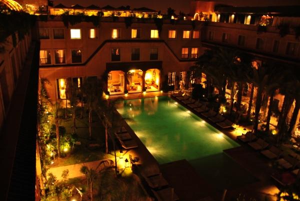 Accès piscine, même le soir c'est super.