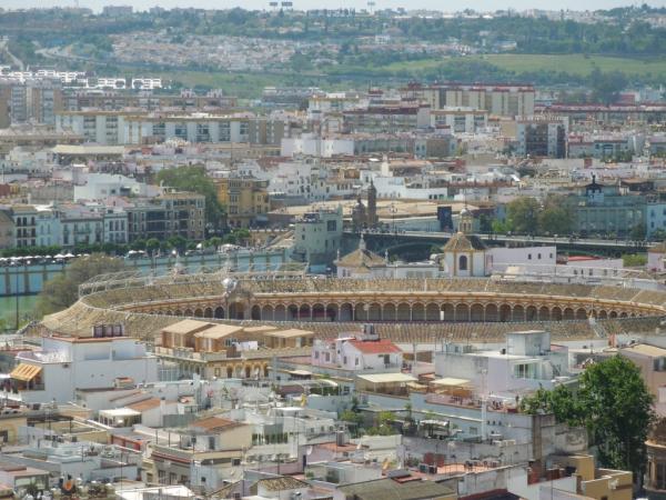La plaza de Torro vue de la Giralda