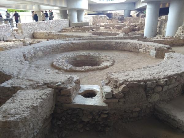 Vestiges situés sous le musée de l'Acropole