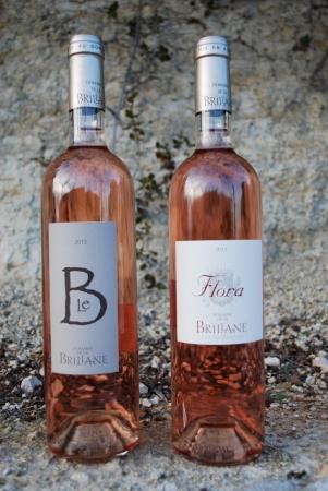 Les rosés du Domaine : Le B rosé et Flora rosé