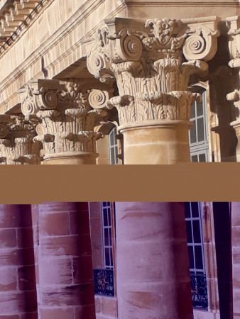 Palais de Lunéville . Cour - Corps central (détail) - 08 mars 2018