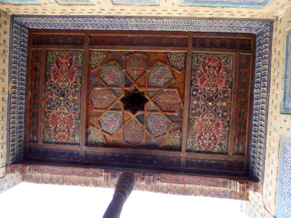 le plafond d'un des iwan