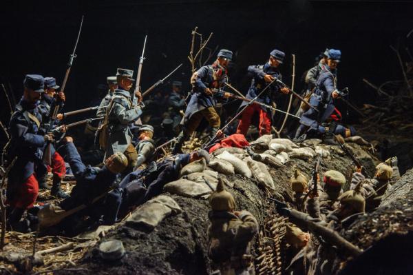 un diorama sur les combats de Maurice Genevoix. Bluffant !