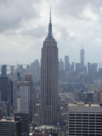 l'empire state building vu de top of the rock