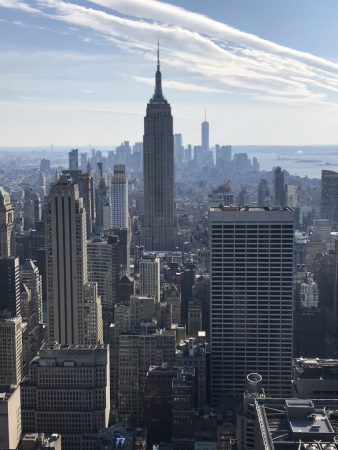 Vue de l'Empire State Building depuis le Top of the rock