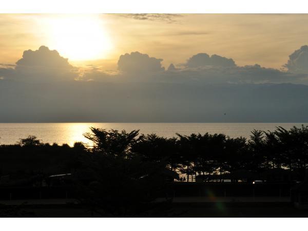 coucher du soleil pris de l'Hôtel safari gate
