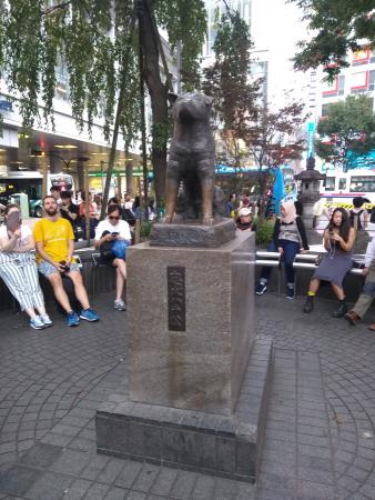 La statue d'Hachiko