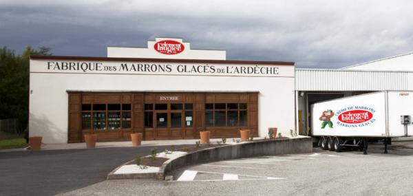 Entrée principale du site, fabrique/musée/boutique Clément FAUGIER, à Privas (07).