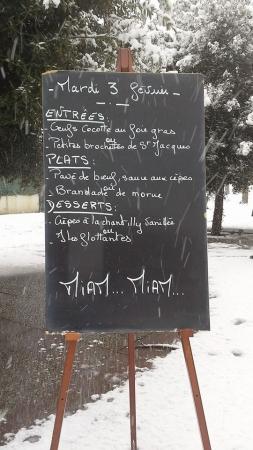 menu du jour où il faisait pas bon de sortir, moi je me suis régalée