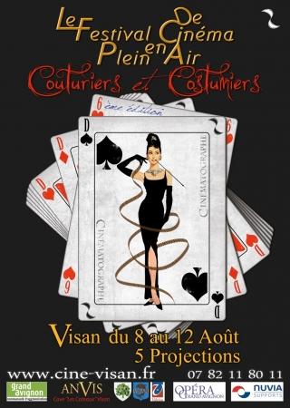 Affiche 6 ème festival de cinema en plein air de Visan