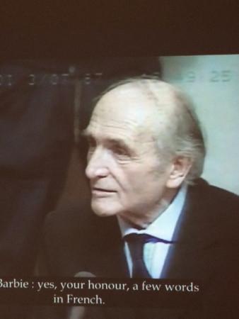 Klaus Barbie lors de son procès à Lyon.