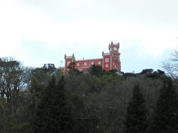 Le palacio da Pena. Vue prise du Chateau des Maures