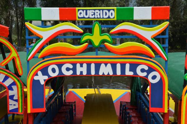 un bateau à Xochimilco