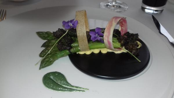 asperges vertes et escargots