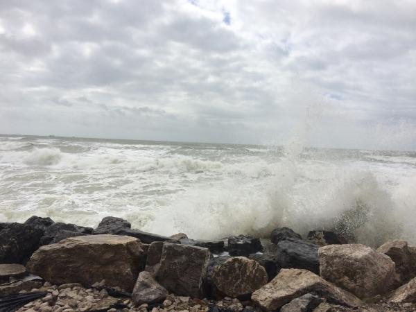 Grande marée à wimereux le 21 Aout 2016
