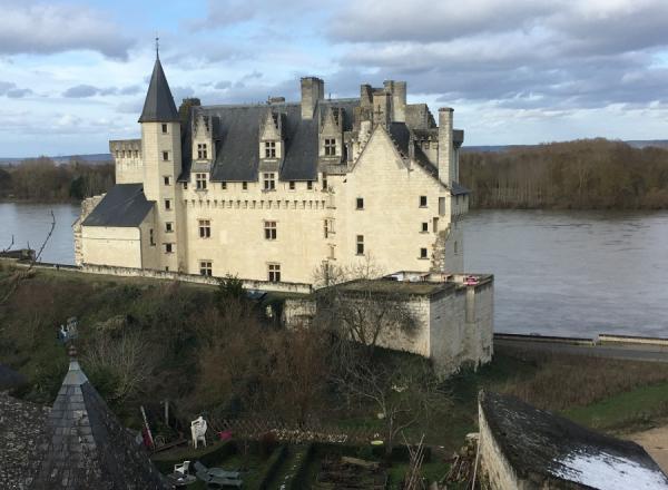 Vue du château depuis les hauteurs du village de Montsoreau