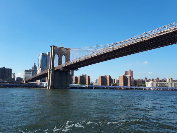 Sous le Brooklyn Bridge
