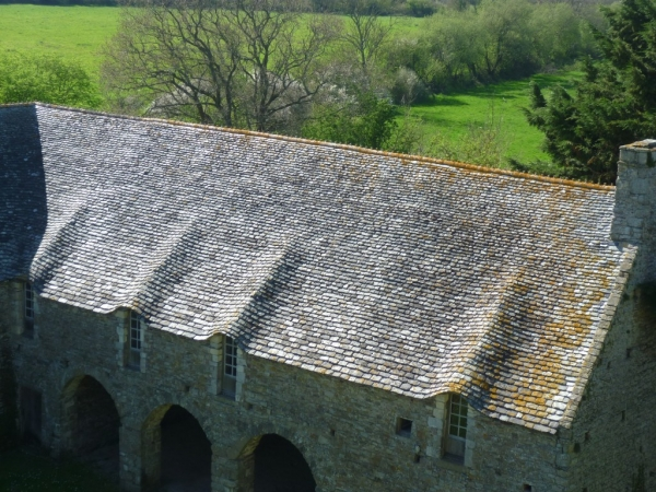 Château de Pirou - les toitures