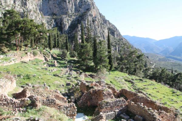 Site de Delphes vu d'en haut