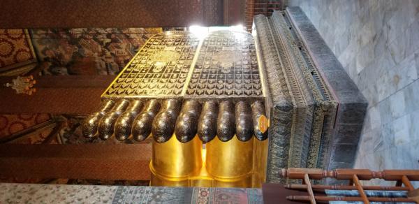 Les pieds du Bouddah couché