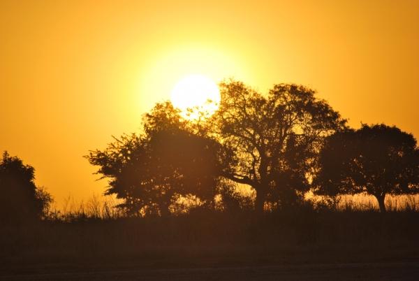 un coucher de soleil sur le Sine