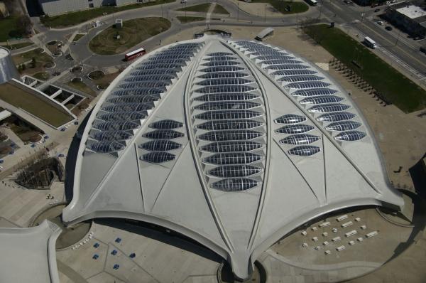 Biodome Montreal depuis la tour olympique