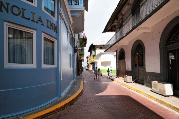 La rue de l'hotel