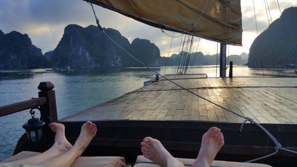 Baie d'halong : notre jonque rien que pour nous