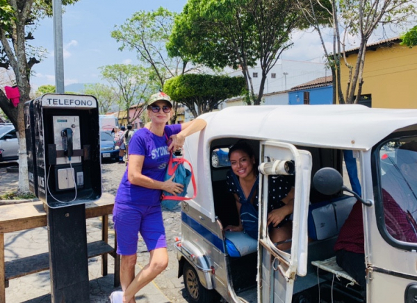 Tuk Tuk transport, best way to travel in Antigua and nice experience too :)