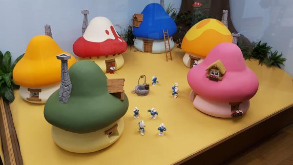 village schtroumpf en miniature