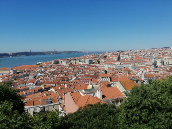 Vue sur Lisbonne depuis les remparts