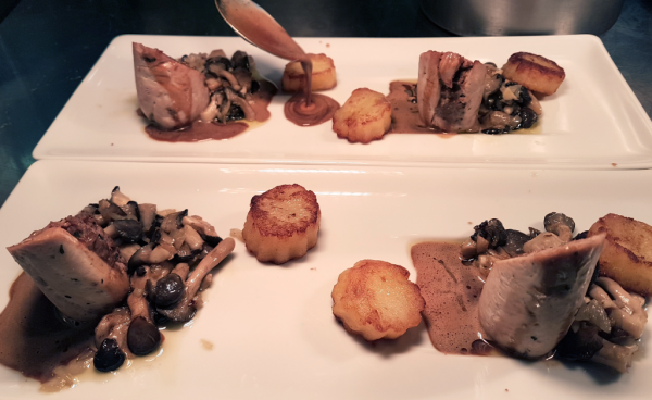 Les Saint-Jacques du restaurant l'Ecluse à Amboise : un régal !