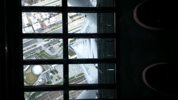 un fond vitré peut permettre de voir le sol. Impressionnant.
