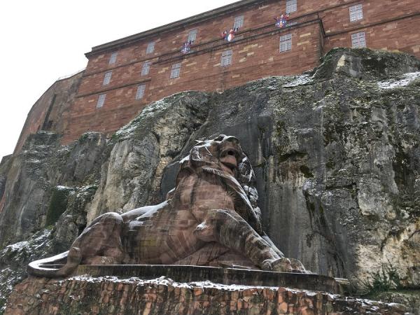 Le Lion sous la neige