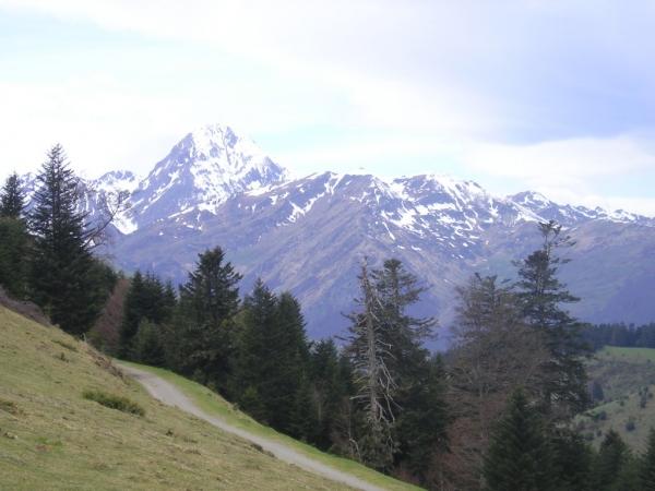 En haut du col d'Aspin, en route pour se régaler chez Germaine