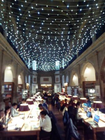 Une bibliothèque qui ressemble un peu à Ste Geneviève à Paris