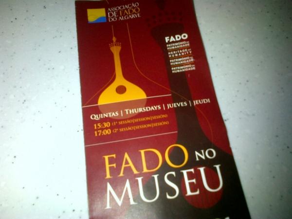 Invitation pour le Fado au musée