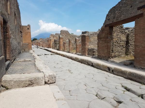 Une rue de Pompei.