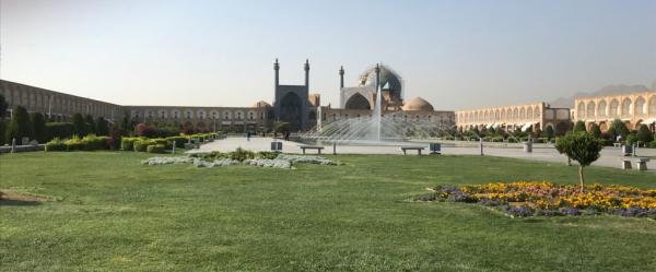 vue sur la mosquée du shah