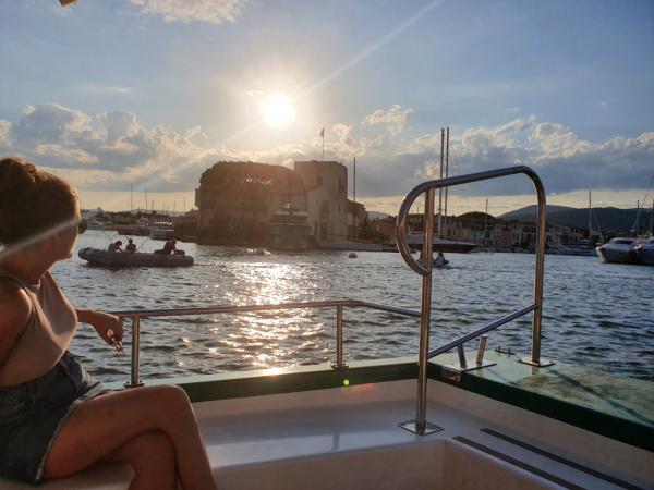 Le soleil couchant sur Port Grimaud
