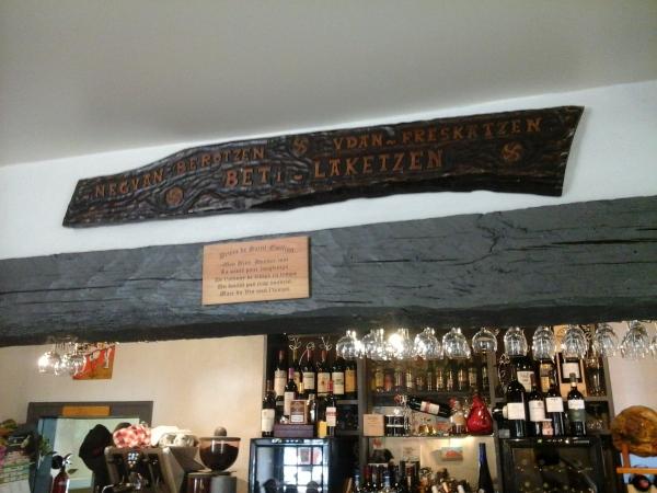 legende au dessus du bar
