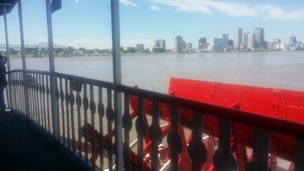 vue de la Nouvelle Orélans du bateau Natchez