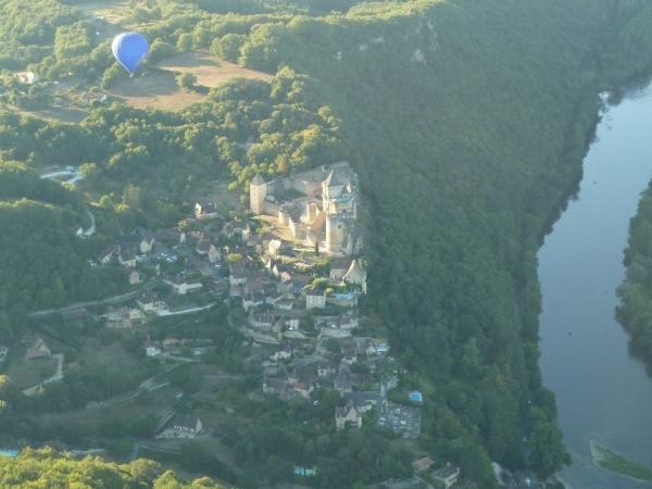 Castelnaud vu du ciel