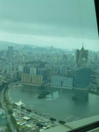 vue depuis la tour sur Macao et le casino Gran Lisboa