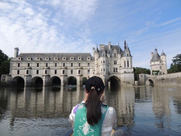 Canoë à proximité du château de Chenonceau
