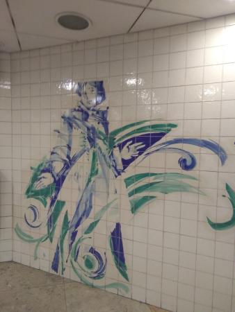 Décoration dans le métro