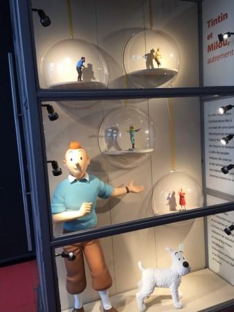 Vitrine de la boutique Tintin