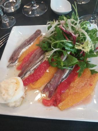 Entrée assiette Collioure belle assiette subtilement parfumée