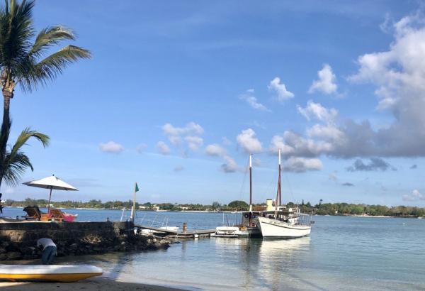 Le superbe bateau pour dîner dans la baie