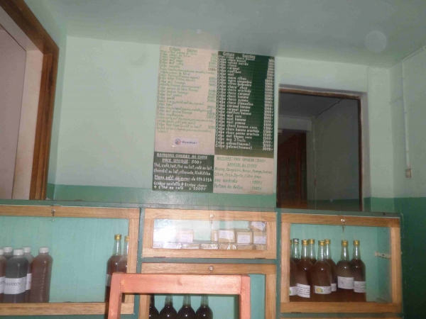 Tableau de menu